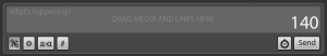 Tweetdeck status bar