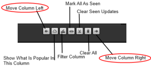 Moving your columns left or right using the bottom options
