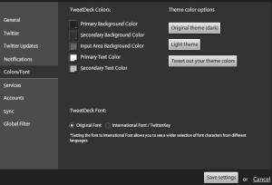 Choose a colour for tweetdeck