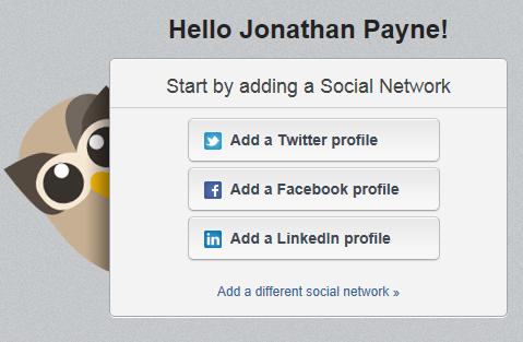 Click 'Add Twitter Profile'