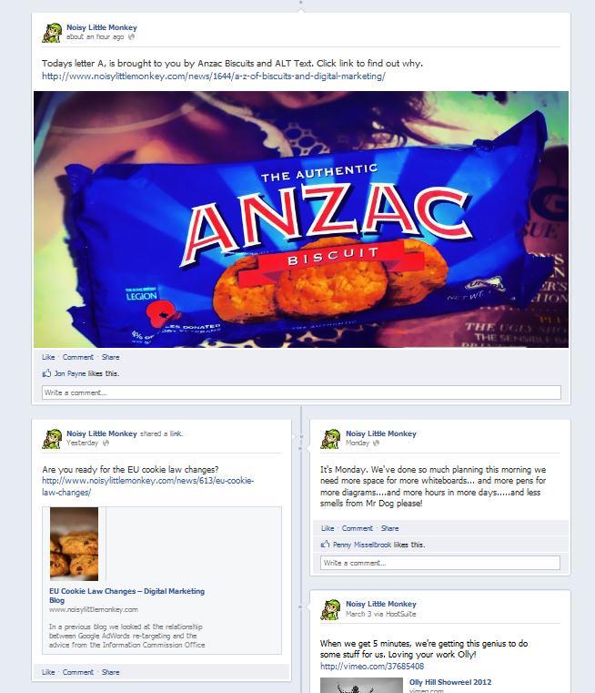 Double width Facebook post