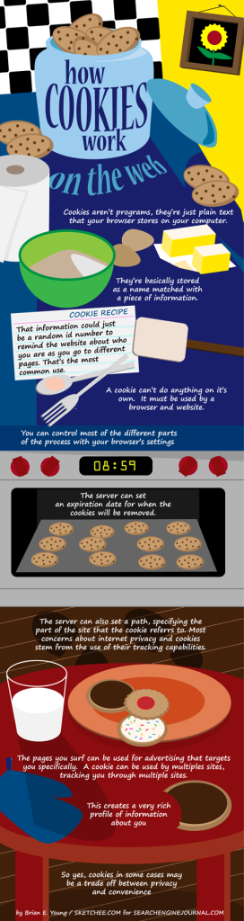 infographic showing how cookies are used on the web
