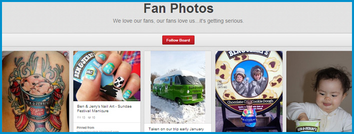ben and jerry fan photos