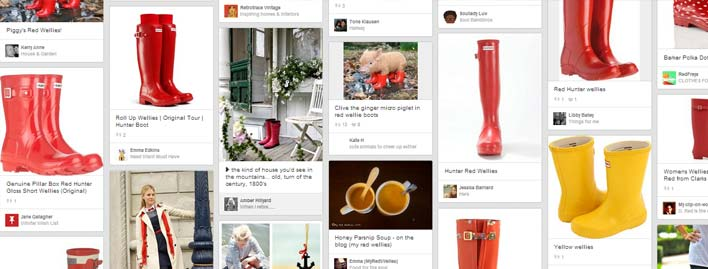 red wellies search on Pinterest