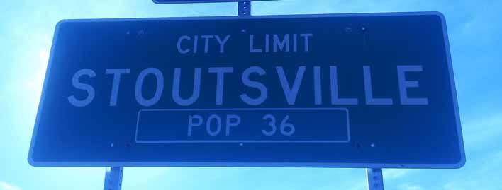 Stoutsville - population 36
