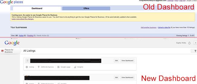 Google Dashboard Old & New