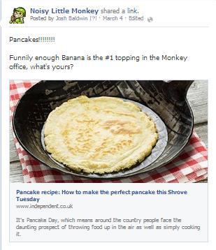 pancakes facebook post