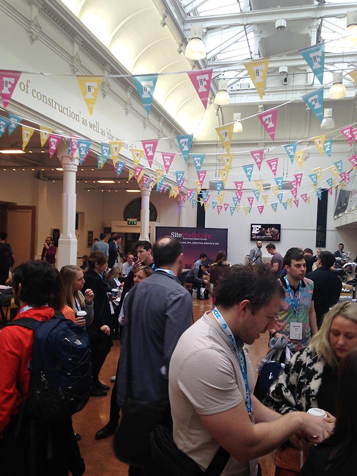 atrium area at #BrightonSEO, Brighton Dome