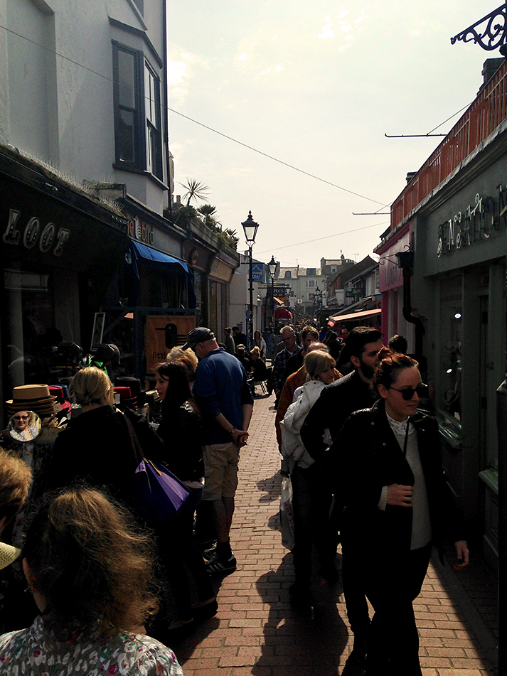 A sunny day in the Lanes, Brighton