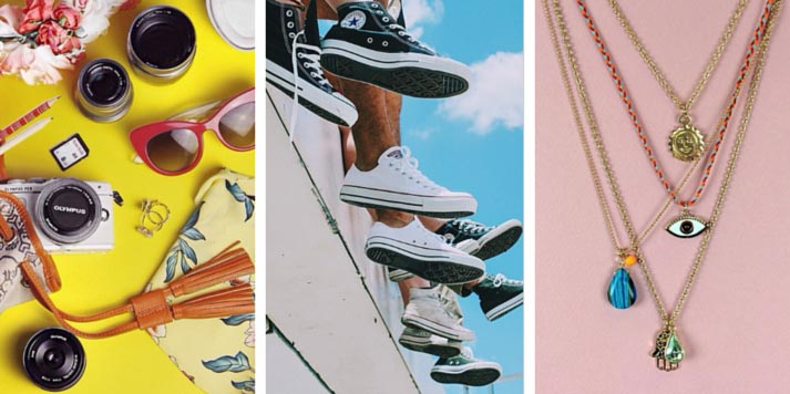 jewellery, shoes and sunglasses on instagram