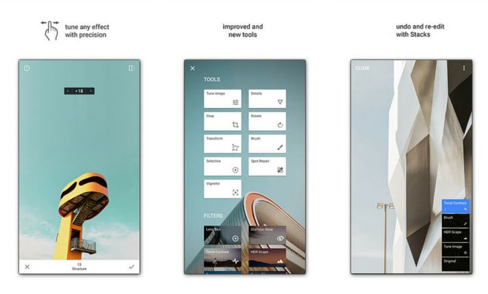 snapseed app screenshots