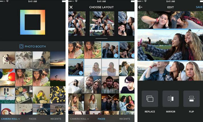 layout by instagram screenshots