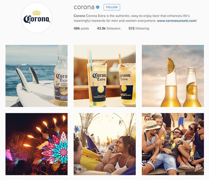 snapshot of corona instagram