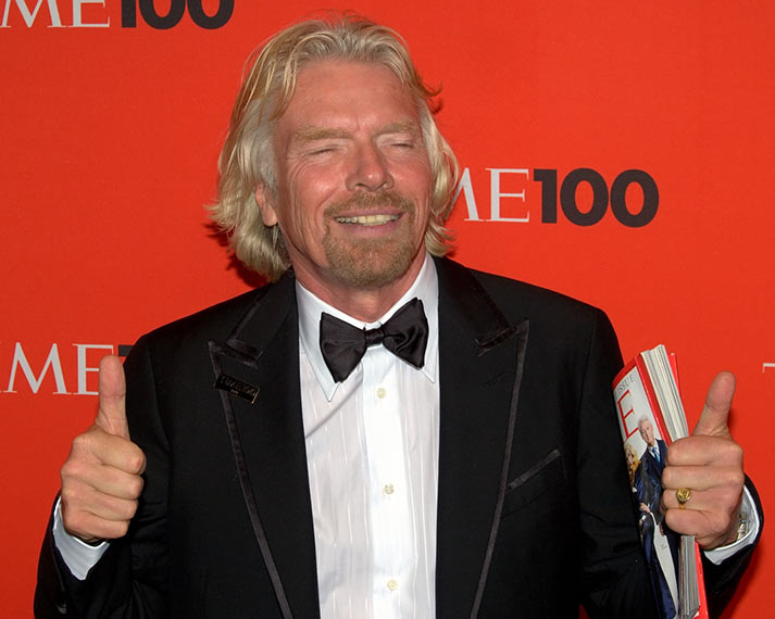 richard branson thumbs up