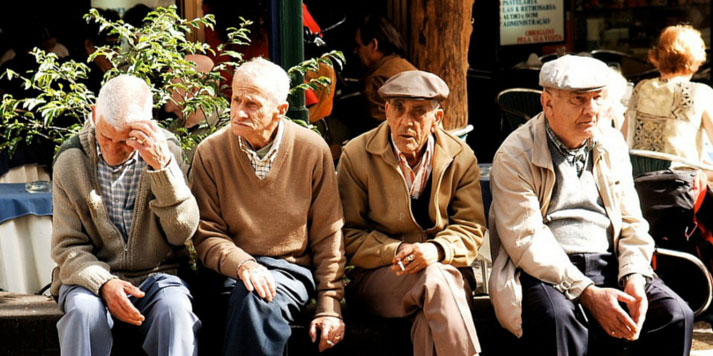 four old men sat down