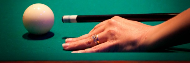 image of a pool cue