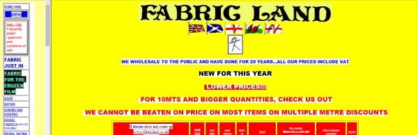 fabric land website