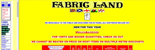 fabric land website