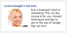 Ad variation with smiling woman