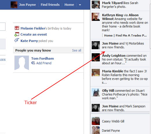 Tickers & Timelines - the new face of Facebook