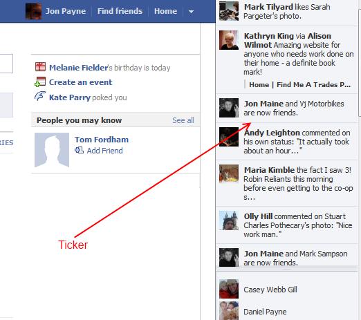 Facebook's new ticker