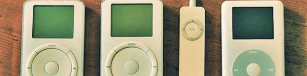 Different generation of Ipods