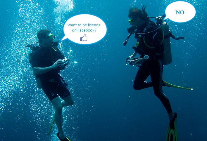 social media scuba diving