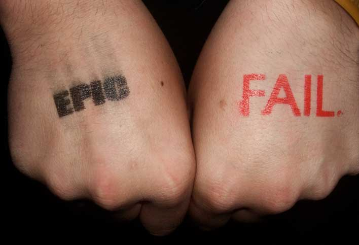 epic fail stamped hands