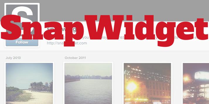 Snapwidget app for instagram