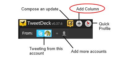 Add a Column in tweetdeck