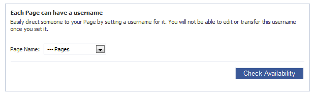 Facebook Vanity URL's