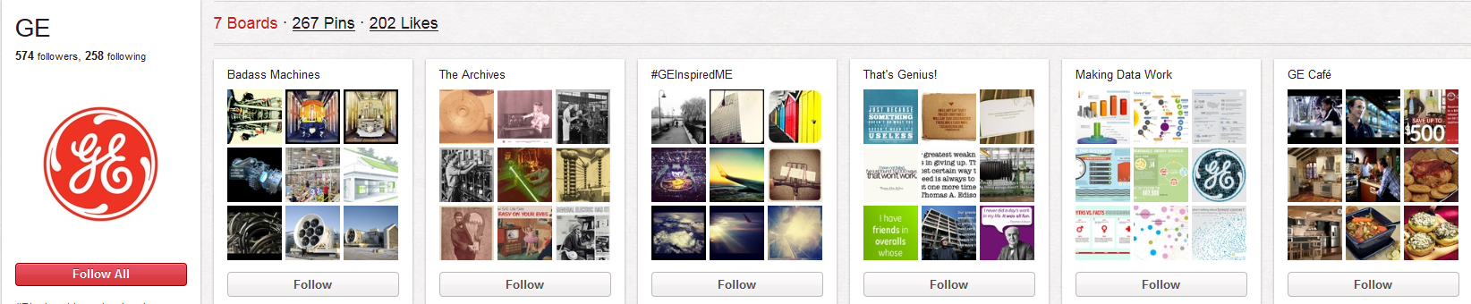 General Electric Profile on Pinterest