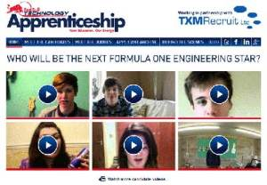 Red Bull Apprenticeship website