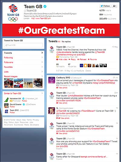 Team GB Twitter page