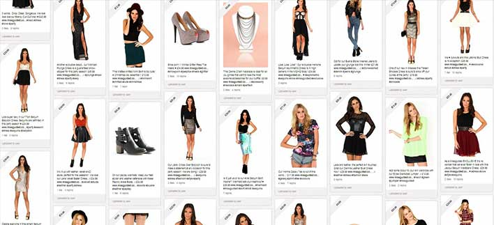 Missguided Pinterest Account