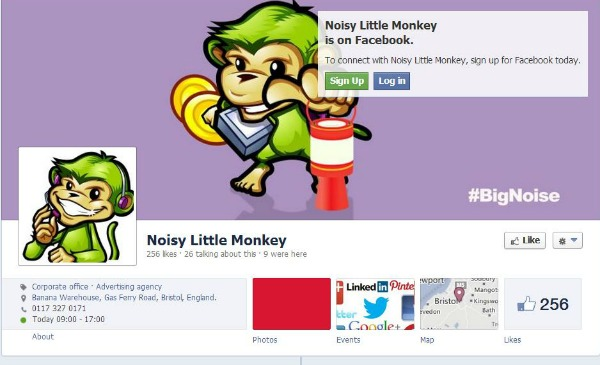 optimised Facebook page