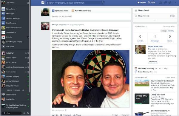 Facebook news feed snapshot