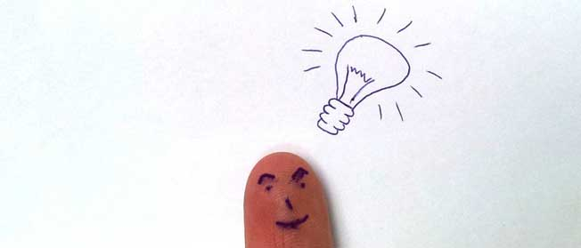 Ideas for writing content - light bulb moment