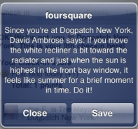Foursquare promotion offer