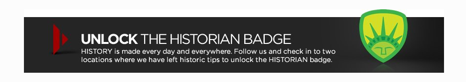 History Badge - History Channel, Foursquare