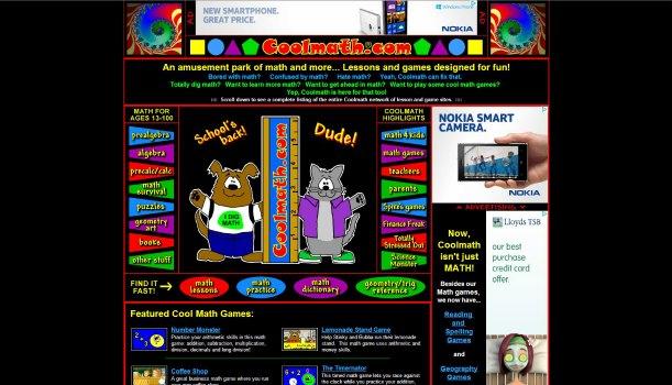 coolmath.com homepage