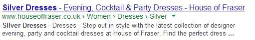 House of Fraser - Meta Description