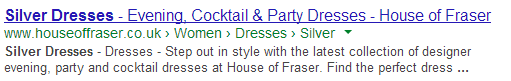 House of Fraser - Meta Description