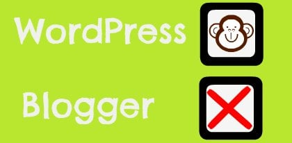 WordPress Vs Blogger Featured Image