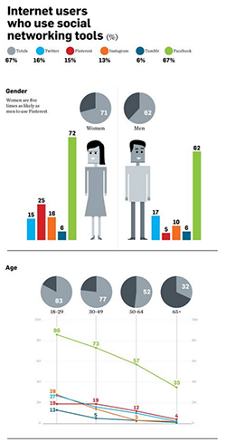 infographic about social media demographics