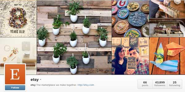 etsy instagram