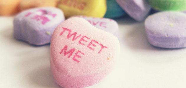 tweet me love hearts