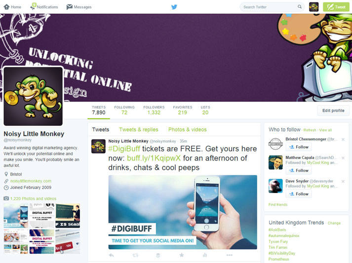 What your twitter homepage should look like