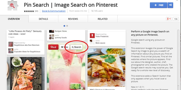 pin-search-for-pinterest | a chrome extension