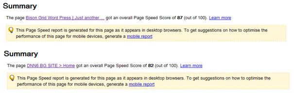 Google Page Speed Labs